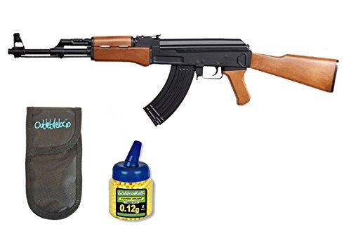Pack Rifles SLR105 AEG Electrico. Calibre 6mm. + Funda Portabalines + Biberon 1000 bolas. 23054/21993
