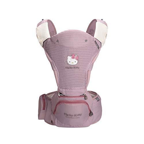 MLX Porte-bébé Sling pour nouveau-né - Porte-bébé pré-dos et dos à nouer, réglable et respirant, ergonomique, allaitement rose, porte-bébé rose