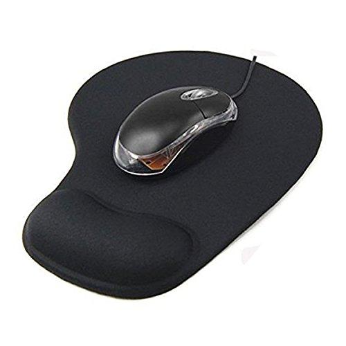 Preisvergleich Produktbild hmilydyk-Mauspad mit Gel Handgelenkauflage Komfort Anti Rutsch Pad Mäuse Matte für PC schwarz