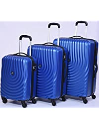 Kamiliant American Tourister Kapa 4 Wheels Trolley Bags Set Of 3 PC Blue