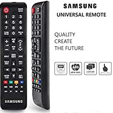 Generic Samsung New Replacement Compatible Universal Remote Control for LED/LCD/Plasma TV- Black