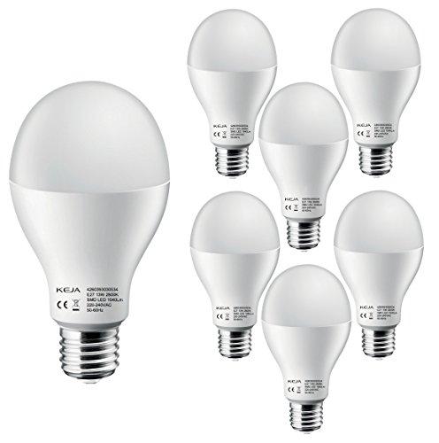 LED FACTORY 13W E27 LED 1040lm Ampoule 100W Halogène Équivalent, Blanc Chaud, 2800K, 120° Larges Faisceaux, Pack de 6 Unités Ampoules