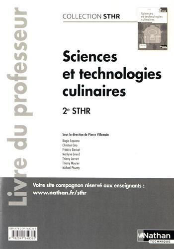 Sciences et technologies culinaires 2eme STHR : Livre du professeur