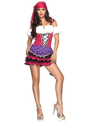 Crystal Ball Gypsy Erwachsene Kostüm Für - Leg Avenue Crystal Ball Gypsy  S/M, 1 Stück