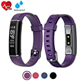 acti Y-Fit Band Activity Fitness Tracker OLED Screen with Heart Rate, Step & Sleep Tracker, IP67 Waterproof, Pedometer Sports Watch for Men, Women, and Kids (Purple)