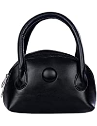 Belladona Leather Small Hand Held Pouch For Women And Girls - Black (Poh_7)
