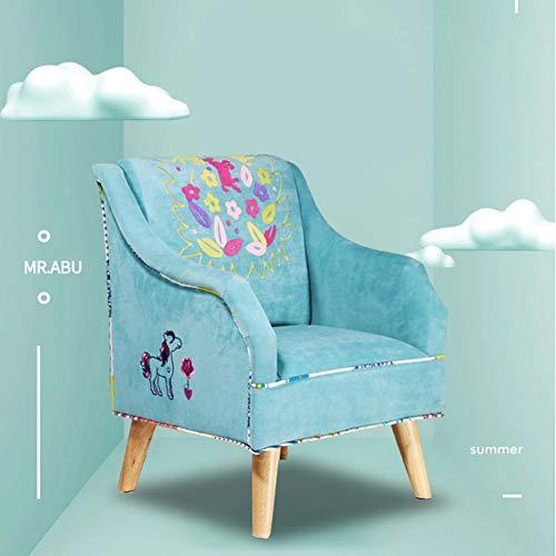 YXLHJY Kinder Sofa Baby-sofastuhl Aus Stoff M?dchen Prinzessin Cute Kleines Sofa Kleinkind Kind liest Sofa Sitz-Blau