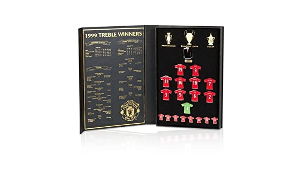 Manchester United 1999 Treble Limited Edition Shirt Badge Collectors S   Amazon.co.uk  Sports   Outdoors 03e5feda2
