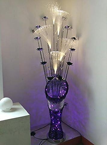 Lampadaire de lumières colorées lampe de fer en aluminium lampe tissée à la main 3 feux à LED 220V