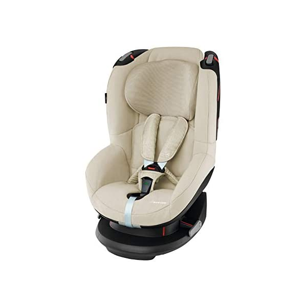Maxi-Cosi Tobi Toddler Car Seat Group 1, Forward-Facing Reclining Car Seat, 9 Months-4 Years, 9-18 kg, Nomad Sand Maxi-Cosi Toddler car seat suitable for children from 9 to 18 kg (approximately 9 months to 4 years) Install theMaxi-Cosi Tobi car seatusing the car's seat belt and the integrated belt tensioner ensures a solid fit Spring-loaded, stay open harness to make buckling up your toddler easier as the harness stays out of the way 1