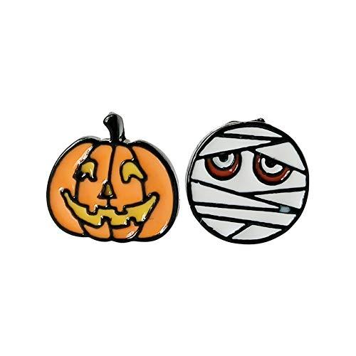 Fablcrew Form Kuh und Mummia Ohrring zum Schrauben, für Halloween, für Feste (zufällige Modell) (Mummie Halloween Di)