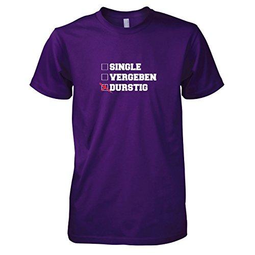 TEXLAB - Single Vergeben Durstig - Herren T-Shirt Violett