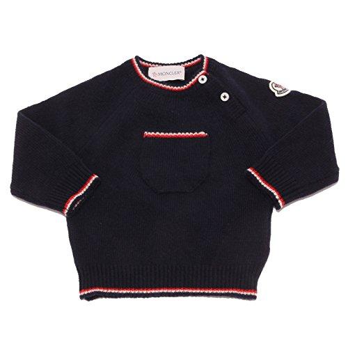 Moncler 5782u maglione bimbo lana wool blue kid jumper sweater [12/18 months]