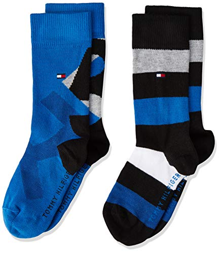 Tommy Hilfiger Jungen TH Boys 85 2P Socken, Mehrfarbig (Black Combo 282), 27-30 (2erPack) -