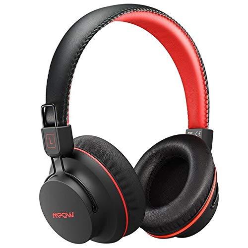 Bluetooth-Kopfhörer-Drahtloser Kopfhörer Mit Eingebautem Mikrofon Über Ohr-Kopfhörer Verdrahtetem/Drahtlosem Modus Für Pc-Tabelle Ios Android Schwarz Und Rot -