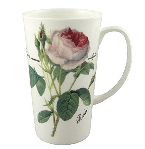 Roy Kirkham Redoute Rose Latte Tasse White Rose Tasse