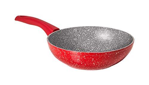 Aeternum Rubino Induction Wok Saltapasta, Alluminio, Rosso, 28 cm