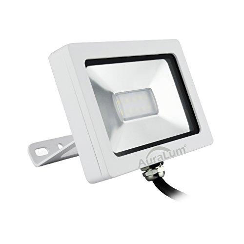 Auralum 10W Led Fluter ersatz 100W Halogenlampe, weiß Flutlicht Strahler Außenstrahler, Kaltweiß 6000k, 750lm, IP65