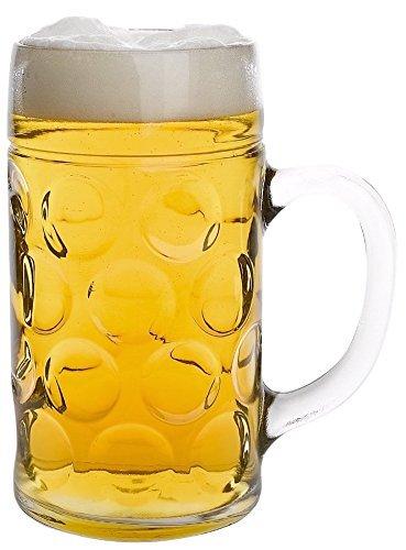 Stölzle-Oberglas 4533808045 Isar Maßkrug 126,5cl, mit Füllstrich bei 1l, 2 Stück