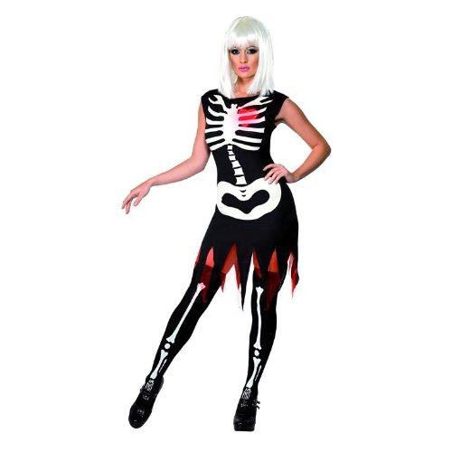 Smiffy 's–Sexy Halloween Skelett Kostüm für Damen Gr. L (sm36993-l)