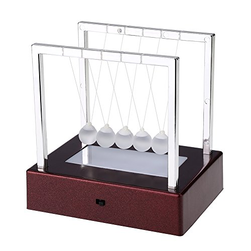 Fdit Gluehende Newton Balancen-Ball-buntes LED-Licht-Innenministerium-Wissenschafts-Spielzeug-Schreibtisch-Dekorations-Kunst-Arbeits-Geschenke