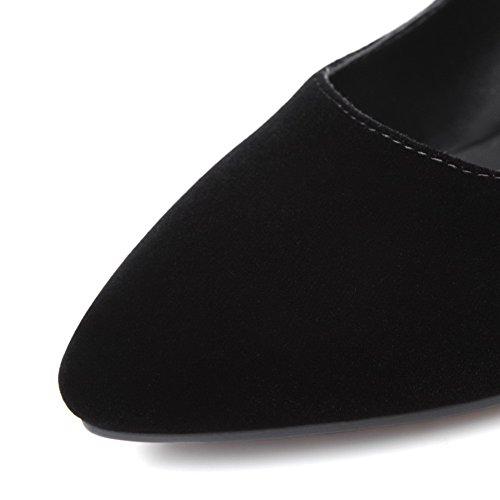 Sobre Allhqfashion Senhoras Stiletto Nobuk Arrasto Sapatos Limpa Toe Bombas Apontou Pretos 64RqRwIp
