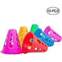 vorcool 10unidades mehrzweck Cono de plástico para roller Skating Sport Física de entrenamiento de fútbol (Color aleatorio)