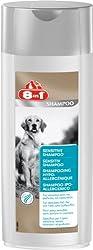 8in1 Sensitiv Shampoo für Hunde (für empfindliches Hundefell, frei von Farb- und Duftstoffen), 250 ml Flasche