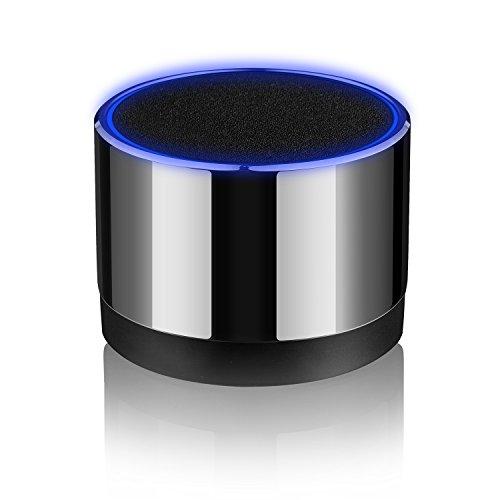 HAVIT Bluetooth Lautsprecher, kabelloser tragbarer Mini-Lautsprecher, starker Bass, Freisprecheinrichtung, Micro SD Karten und 3.5mm AUX Anschluss für Handys und Tablets, MP3 / MP4 (Silber)