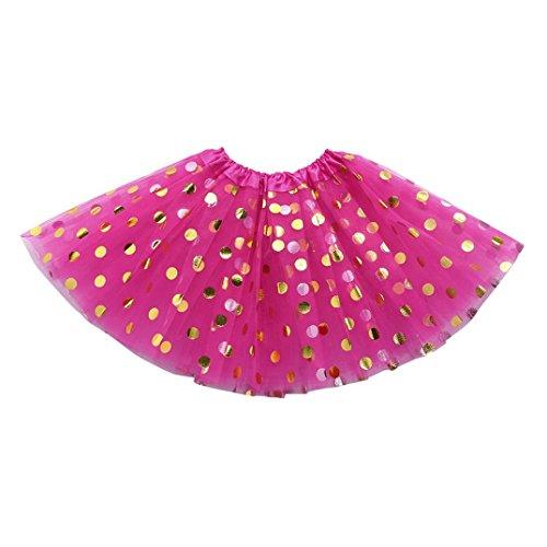 Amlaiworld baby Mädchen Punktdruck röcke Niedlich Mehrschichtig kleider kinder flauschig mode Tütü prinzessin party kleidung, 0-6 Jahren (2-6 Jahren, D) (Blume-mädchen-kleider Flauschige)