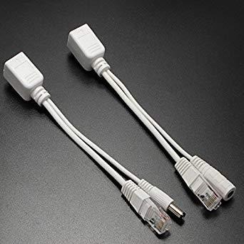Preisvergleich Produktbild Petsdelite Power Over Ethernet Passiver Poe Injector Splitter Kit für alle Geräte weiß
