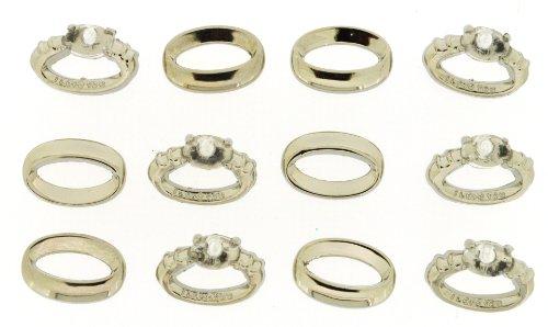 Unbekannt Kleid IT UP 4209Ct9A Bottomline Hochzeit Ringe Verzierung für das Handwerk
