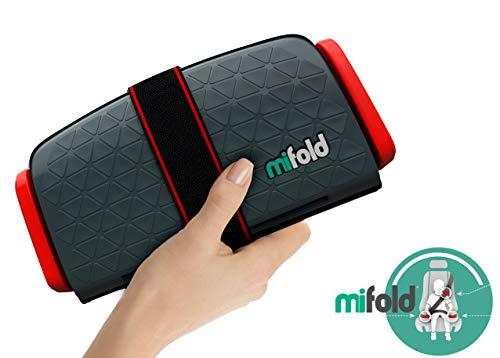 Mifold- Le rehausseur enfant 10x plus compact qu'un rehausseur traditionnel et tout aussi sûr- couleur gris foncé