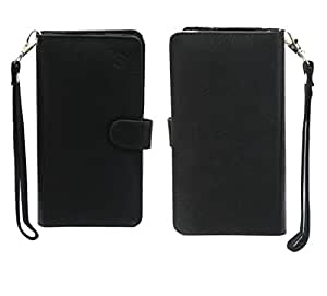 Jo Jo A9 Anya Leather Carry Case Cover Pouch Wallet Case For Huawei P9 Plus Black
