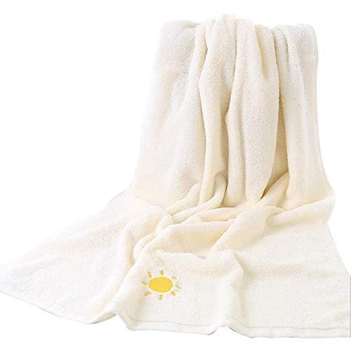 PROKTH Badetücher aus Reiner Baumwolle mit großem Bestickten Badetuch-Wetter-Art-Strandtuch für zu Hause Hotel und Spa