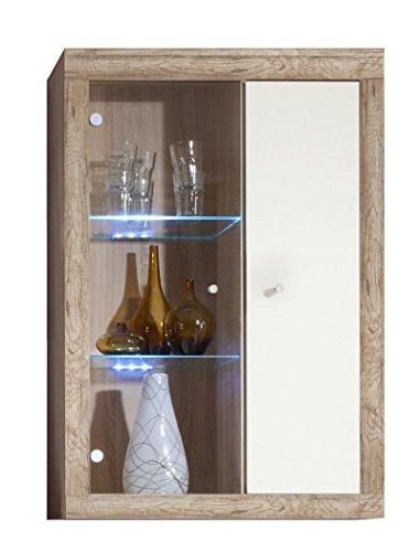 Wohnwand Lamount A 289x202x50cm Eiche Magnolie Schrankwand Wohnzimmerschrank Vitrine Wandschrank Wandboard TV-Board LED-Beleuchtung - 5