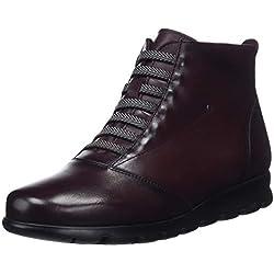 Fluchos Susan, Zapatos de Cordones Derby para Mujer, Rojo (Sugar Burdeos), 38 EU