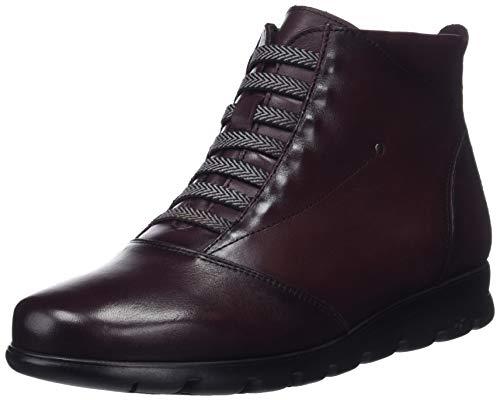 Fluchos Susan, Zapatos de Cordones Derby para Mujer, Rojo Sugar Burdeos, 38 EU