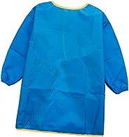 Magideal çocuk boyama önlüğünün–Çocuk Bastelkittel–Çocuk önlük–Boya önlüğü ile uzun kollu, Mavi, Large
