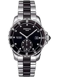 Certina  DS First - Reloj de cuarzo para mujer, con correa de acero inoxidable, color plateado