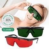 Tillmann's Gafas Depilacion Laser 2 Unidades - Gafas Protectoras Depilacion IPL/HPL / Luz Pulsada