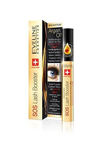 Eveline Cosmetics SOS Lash Booster Wimpernserum 5 In 1, 1er Pack (1 x 10 ml) (Mascara Booster)