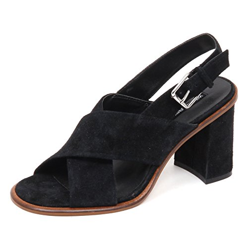 Windsor Smith E0140 (Without Box) Sandalo Donna Nero Scarpe Suede Shoe Woman Nero
