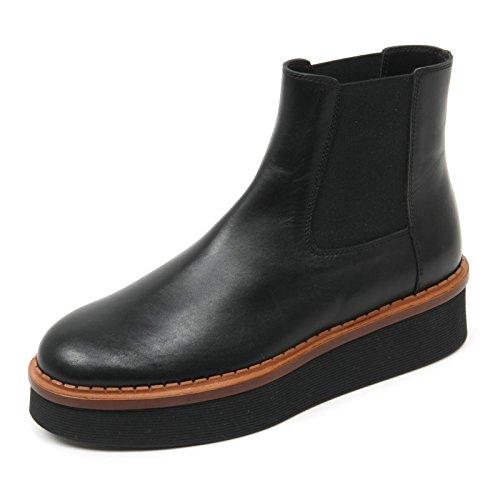B9652 beatles donna TOD'S T50 3A TRONCHETTO scarpa nero shoe boot woman Nero