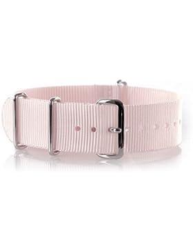 VK von Buran01.com Militär Nylon Uhrenarmband Rosa 18mm WATCH STRAP