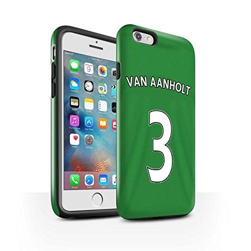 Offiziell Sunderland AFC Hülle / Glanz Harten Stoßfest Case für Apple iPhone 6+/Plus 5.5 / Pack 24pcs Muster / SAFC Trikot Away 15/16 Kollektion Van Aanholt