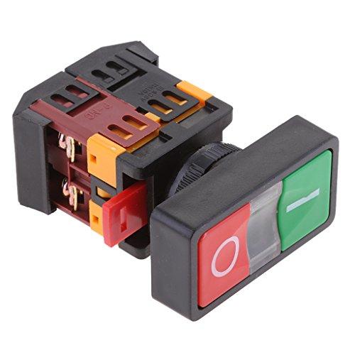 Baoblaze 10A AC 380V Kunststoff ON/OFF Wasserdichter Taster Momentary Switch Mit LED