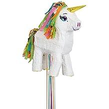 Unique Party -  Piñata Unicornio Blanco, Para Tirar (65987)