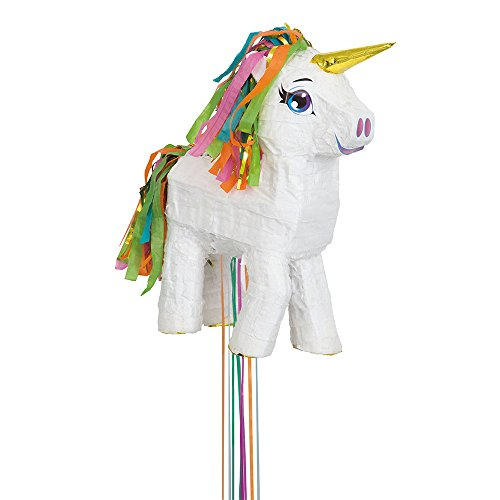 Unique Party - Piñata Unicornio Blanco, Para Tirar (65987)