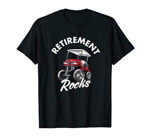 Retirement Rocks Funny Golf Cart  T-Shirt (Scratch Golf Bälle)